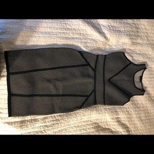 Venus black and gray geometric dress